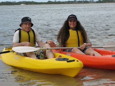 Kayaking Fun For Valentine's Day At Golden Beach, Sunshine Coast, Qld, Australia