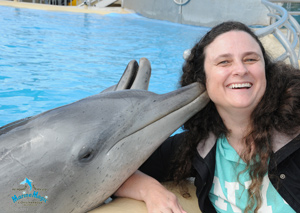Dolphin Kiss at Pet Porpoise Pool, Coffs Harbour
