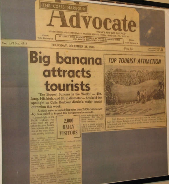 Coffs Big Banana Attracts Tourists December 1964 News Article
