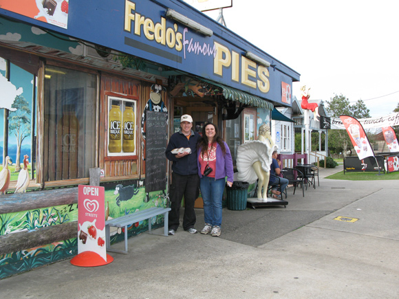 Greg & Leanne Annett at Fredos Pies, Frederickton