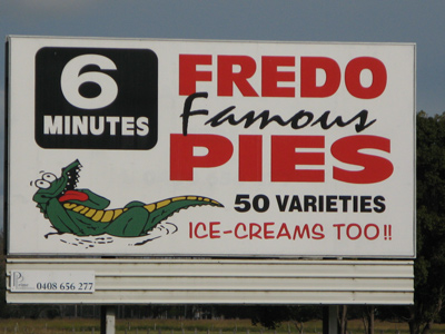 Famous Fredos Pies, 50 Varieties, 6 Minutes Away