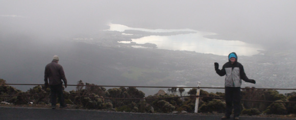 Sun Shines Thru Cloud, Mt Wellington, Hobart