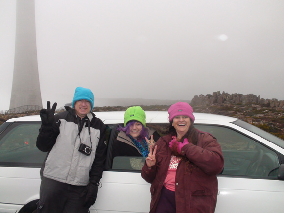 Mt Wellington, Hobart, Family in the Clouds
