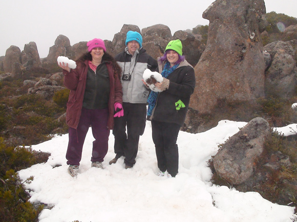 Snowballs Mt Wellington, Hobart, Tasmania
