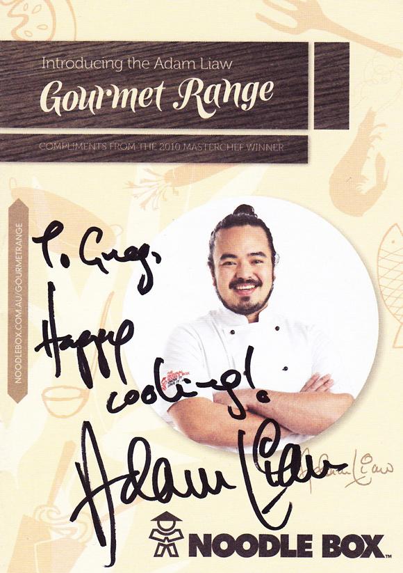 Noodle Box Gourmet Range Signed Booklet