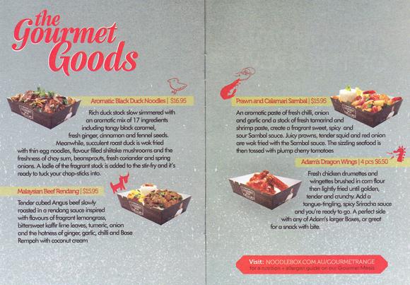 Noodle Box Gourmet Range by Adam Liaw