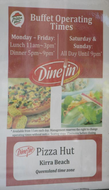 Kirra Beach Pizza Hut Open Times