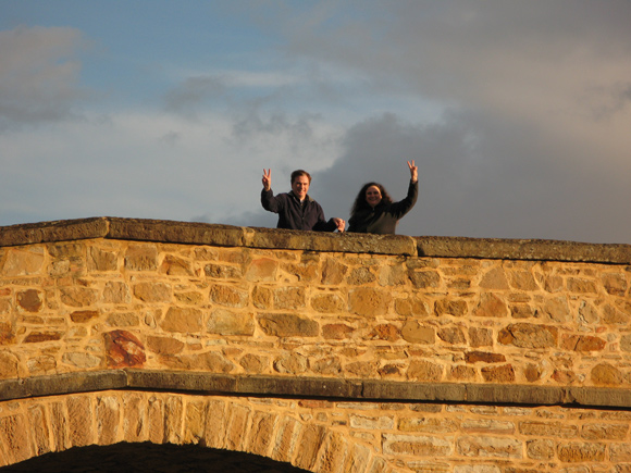 Leanne & Greg Annett on Historic Richmond Bridge, Tasmania