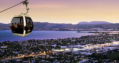 Rotorua Skyline Gondola at Night